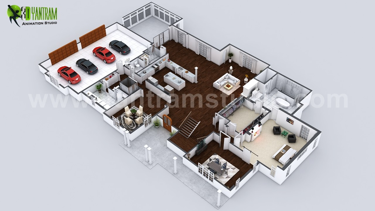 Pleasing Artstation Beautiful Modern 3D Home Virtual Floor Plan Download Free Architecture Designs Intelgarnamadebymaigaardcom
