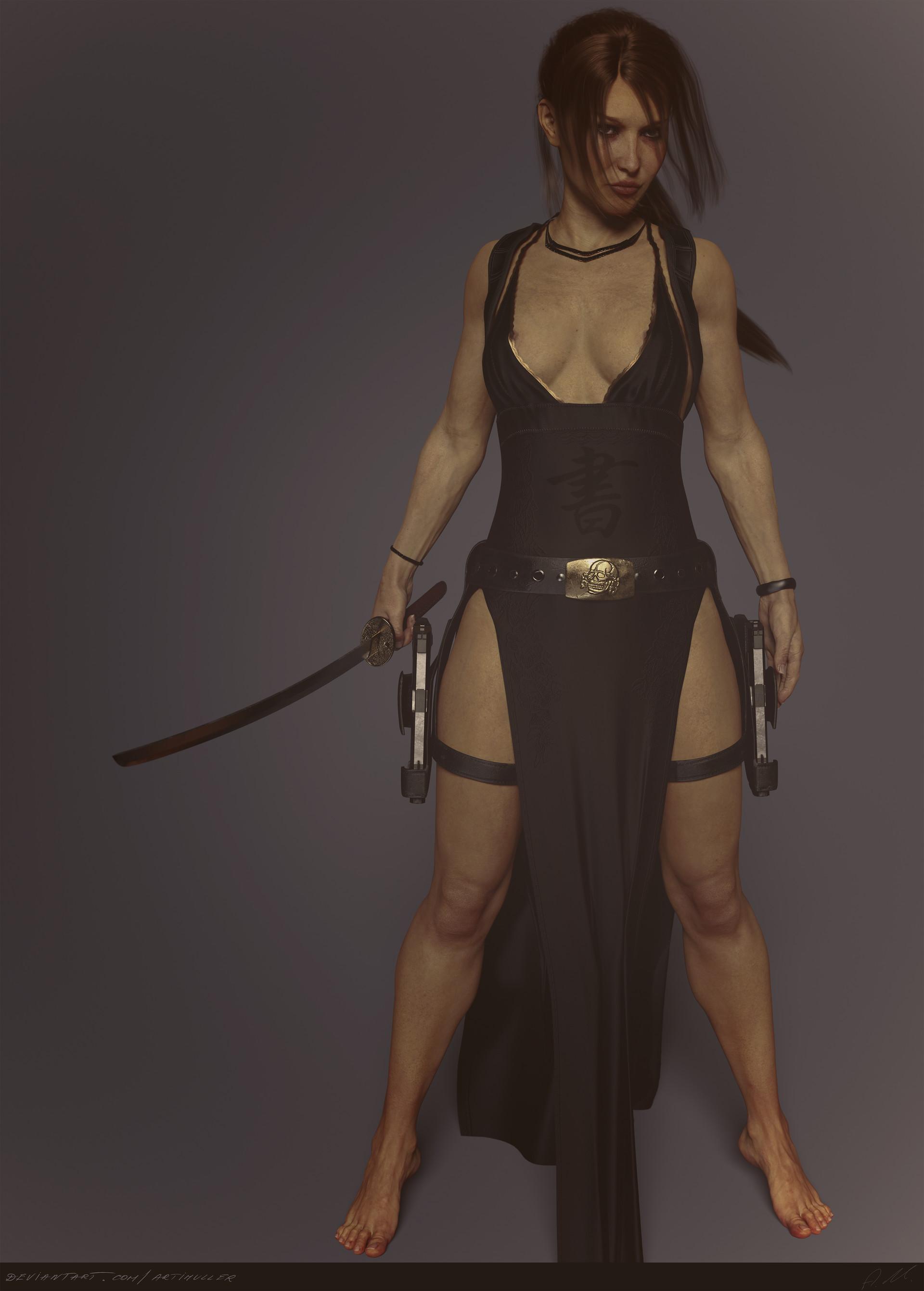 Artstation Tomb Raider Legend Tokyo Dress No Toning Arti Holzel
