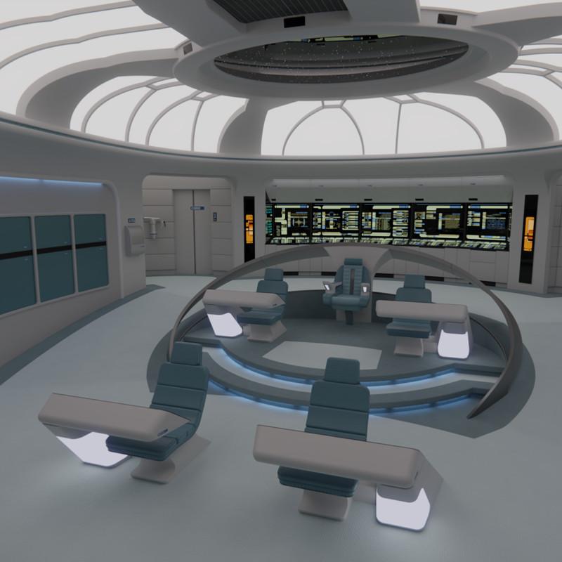 USS Galaxy Bridge - 2360