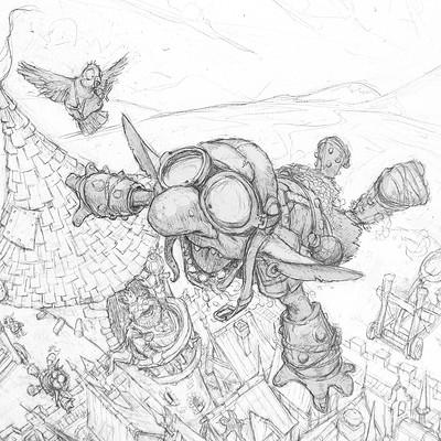 Tomek larek flying maple cover illustration tomek larek