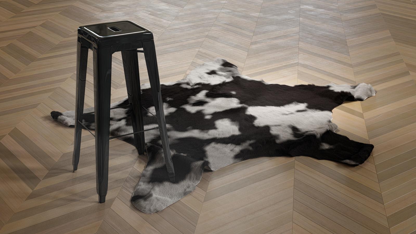a cowhide rug - 100 % procedural, made in blender