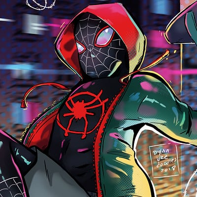 Dylan b caleho into the spiderverse finished