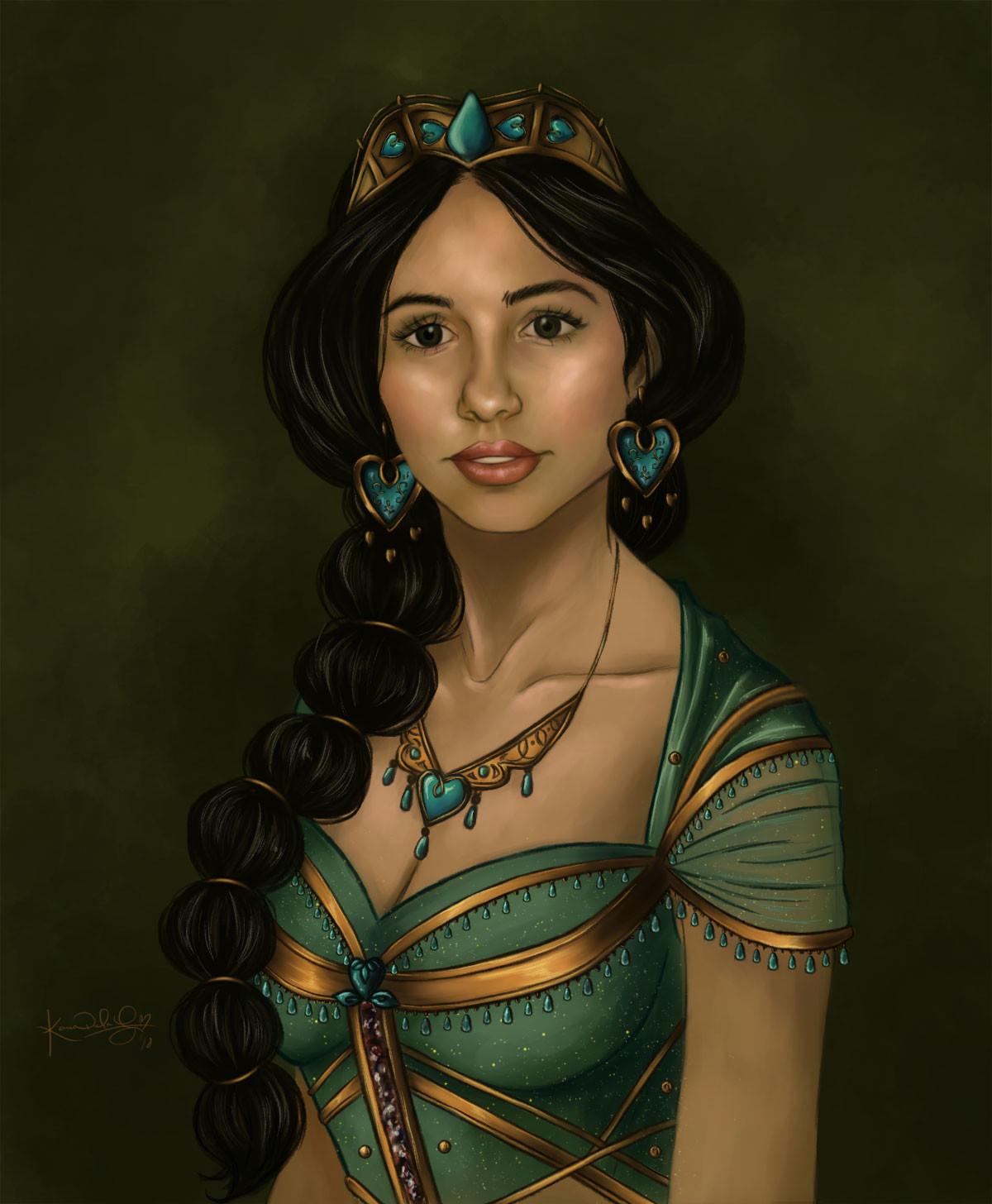 Artstation Princess Jasmine Karen De La Garza