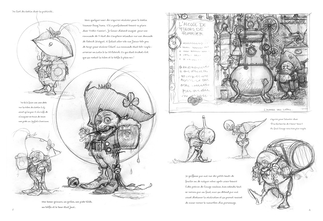 Studies for the lambic in the top right of this page...