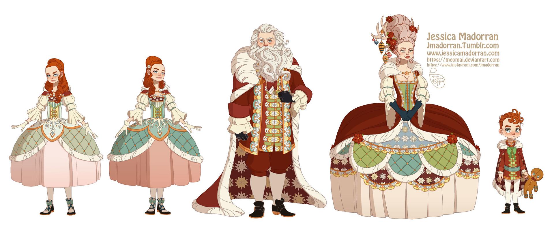 Jessica madorran character design paris 2018 versailles santa family artstation