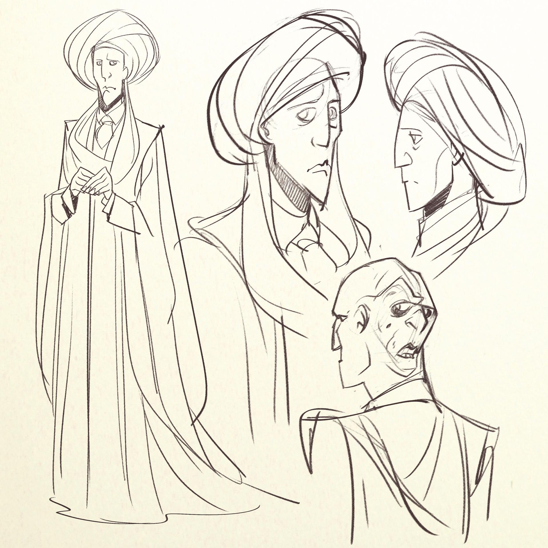 Valerio dreelrayk buonfantino quirrell sketches