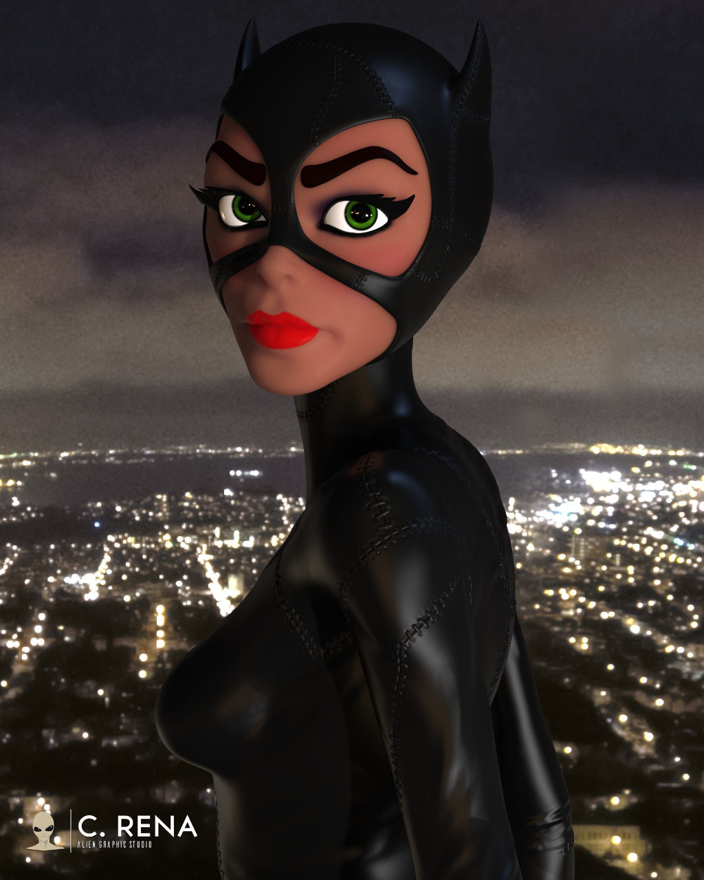 Catwoman (Keyshot render)