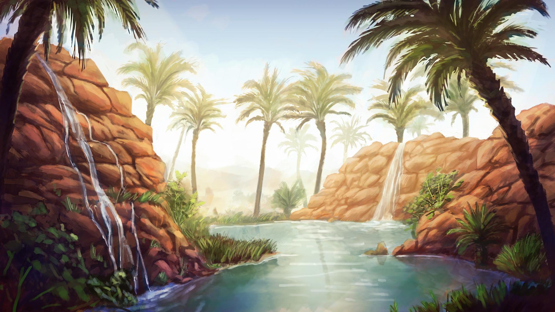 Denis aurelian mocanu environment painting desert12
