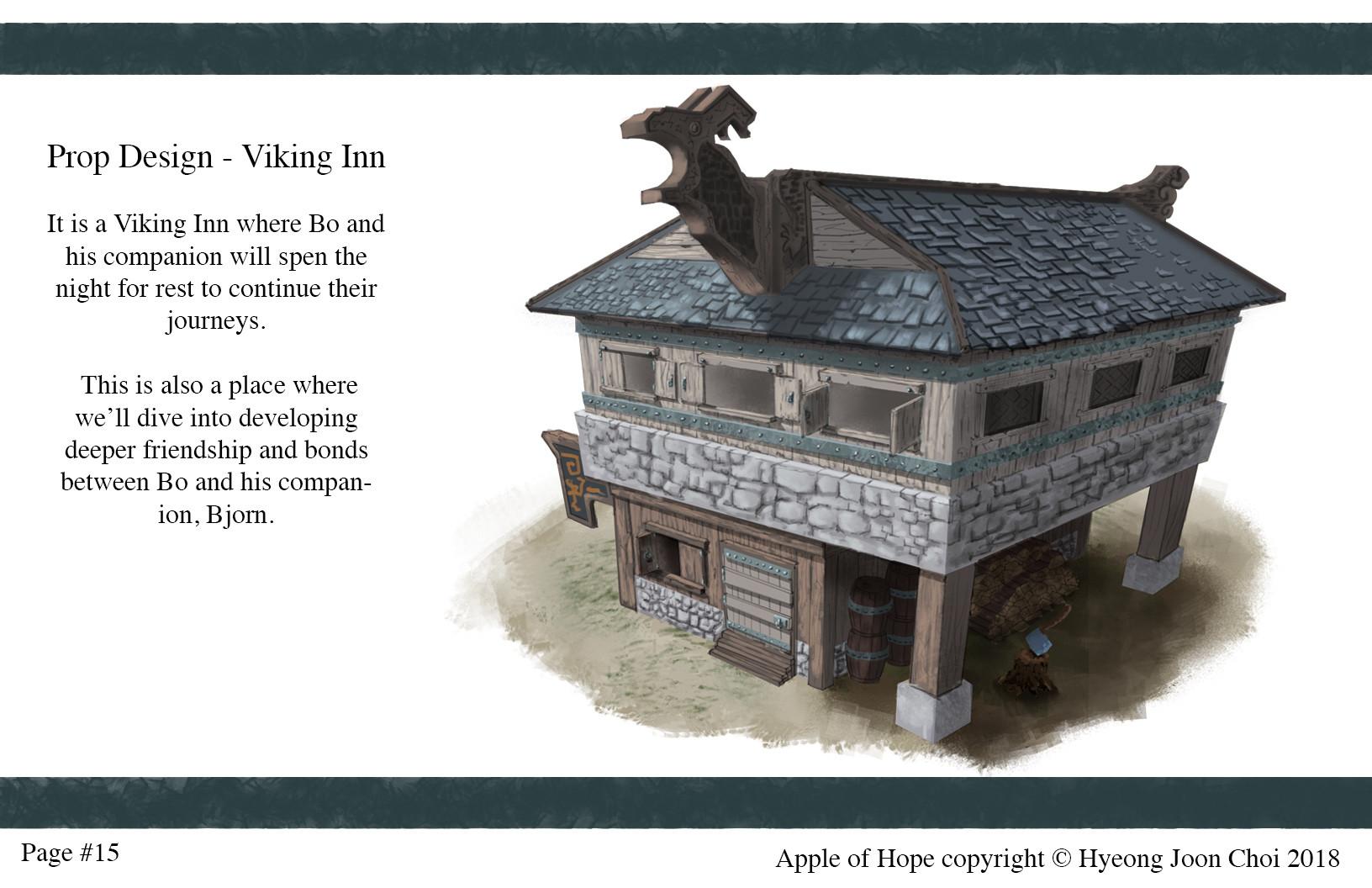 Finished Looks for Viking Inn.