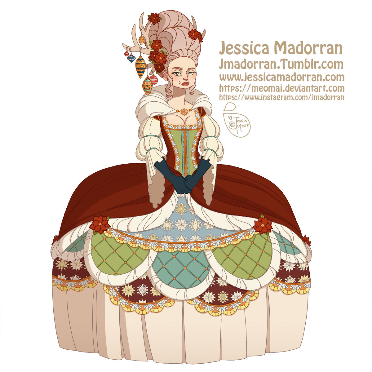 Jessica madorran character design paris 2018 versailles santa family individuals ms clause