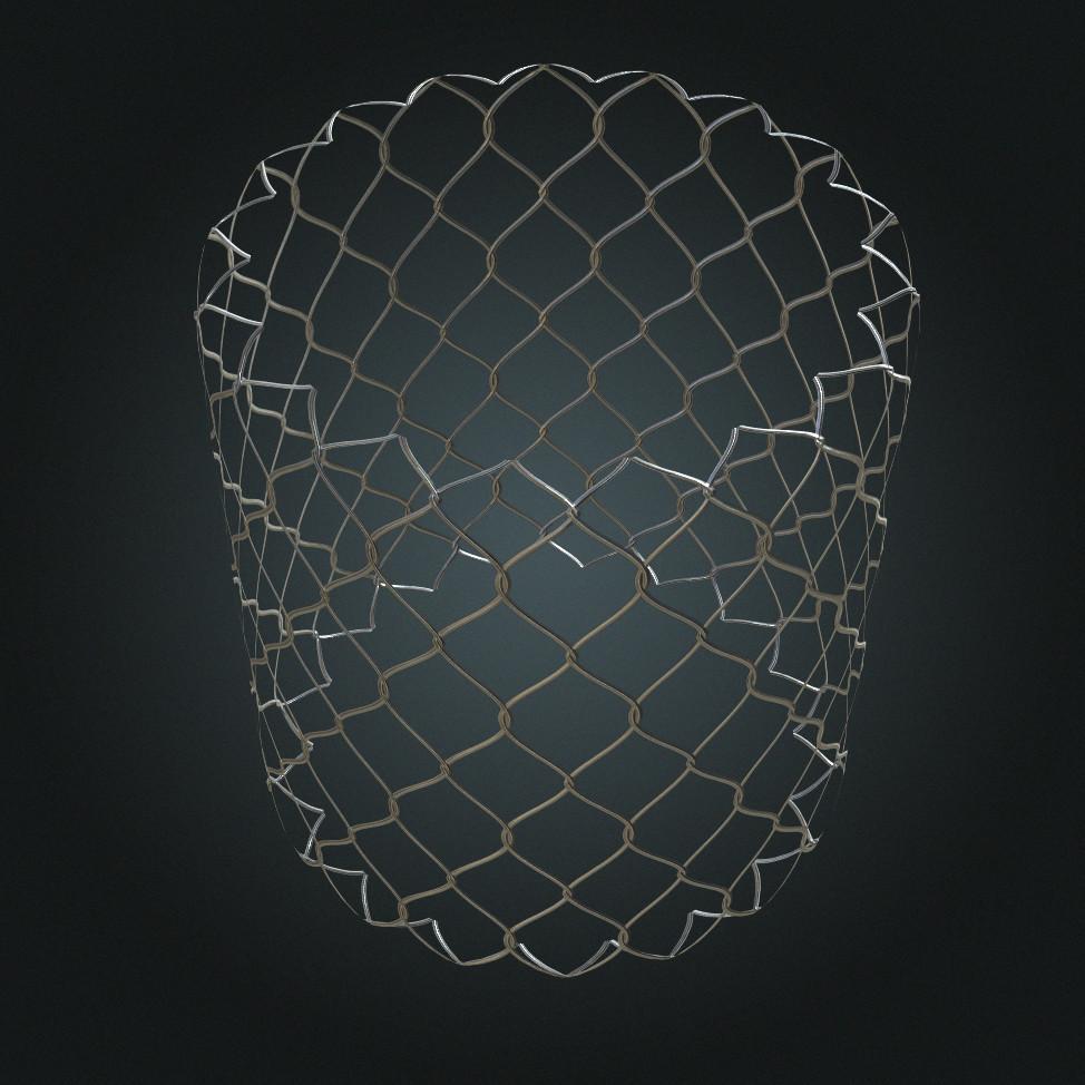 Maurizio barabani chain link fence render