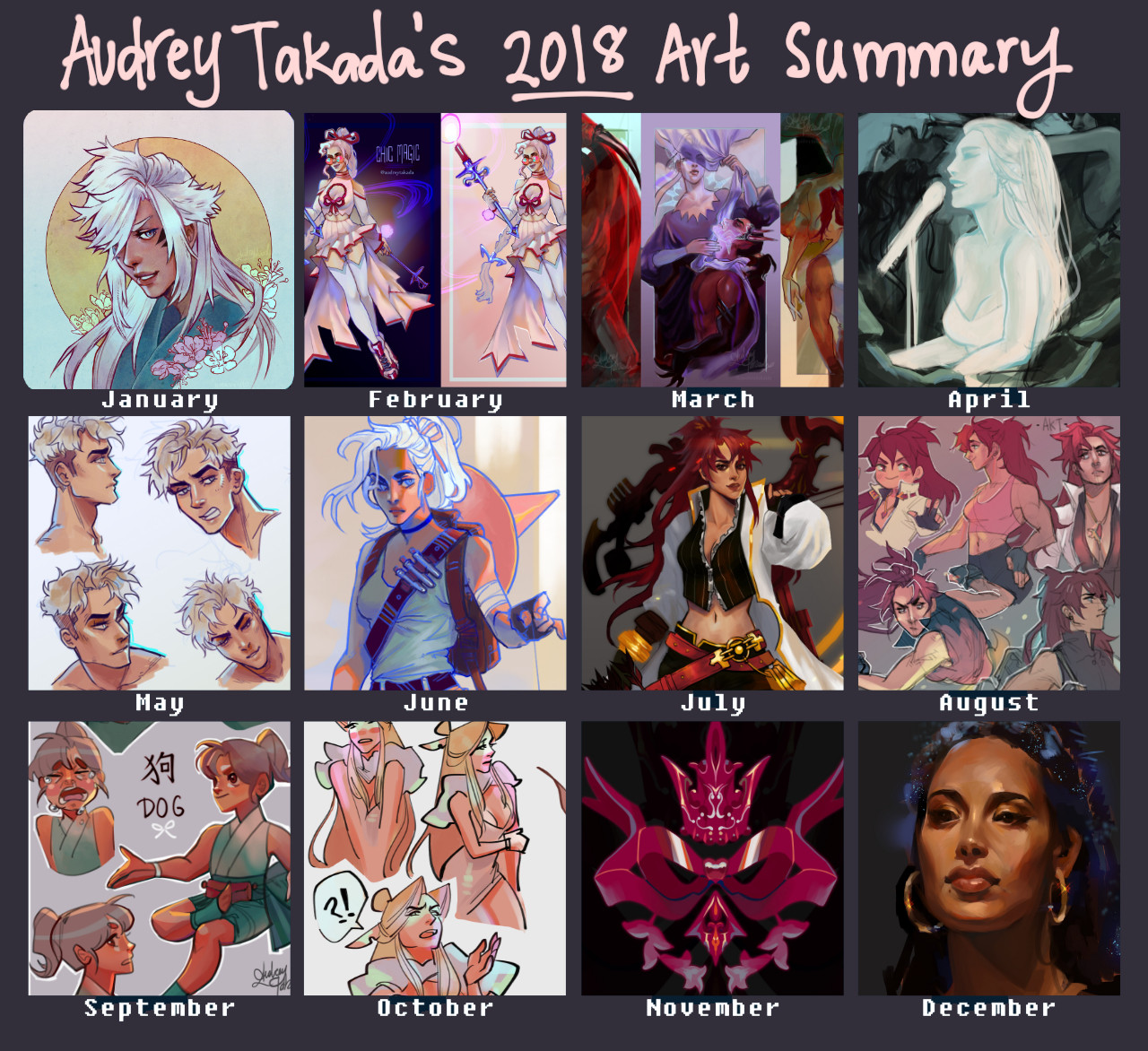 A summary of my art for 2018