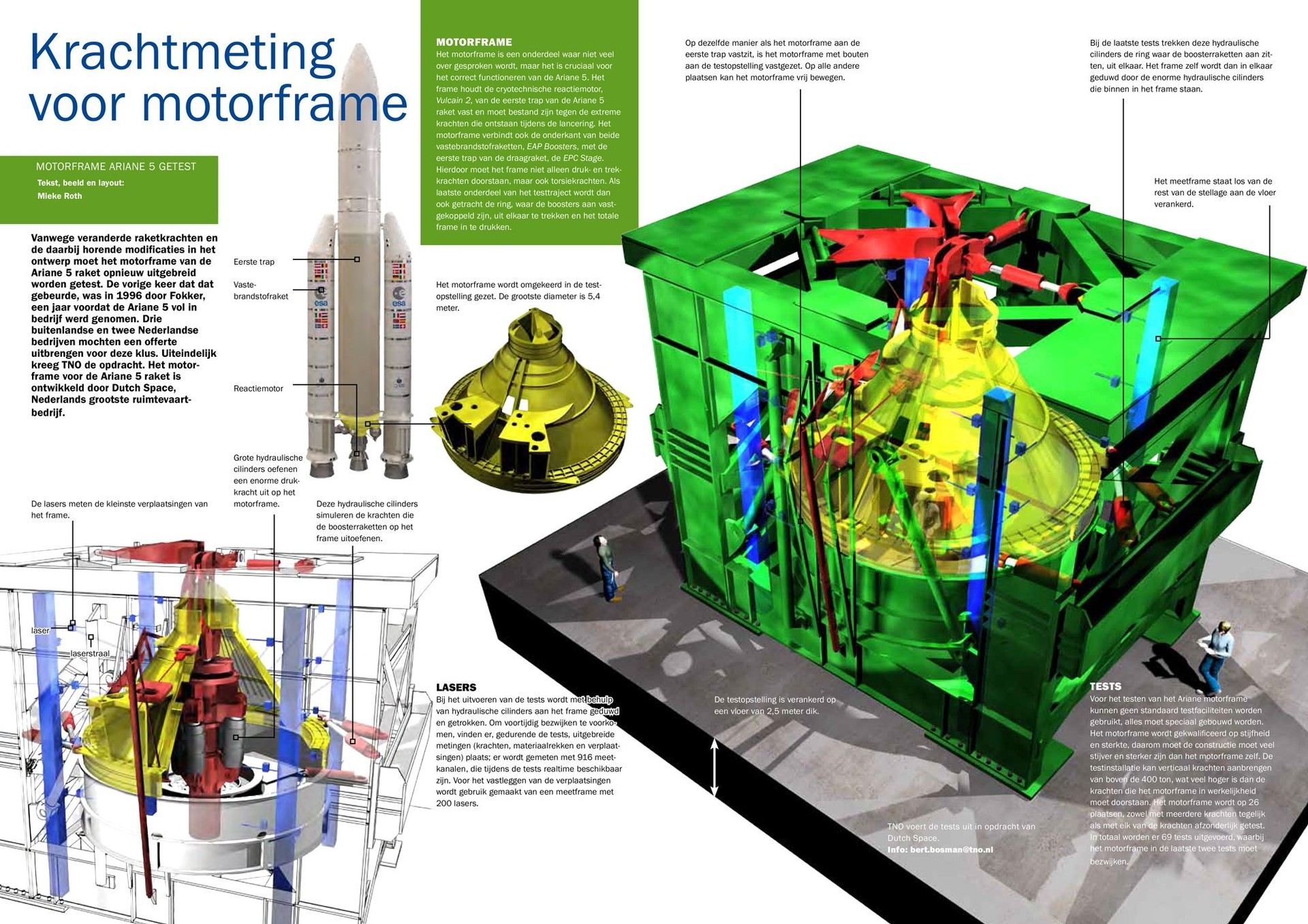 Spread about the test facility where the motor frame of the Ariane 5 rocket was tested