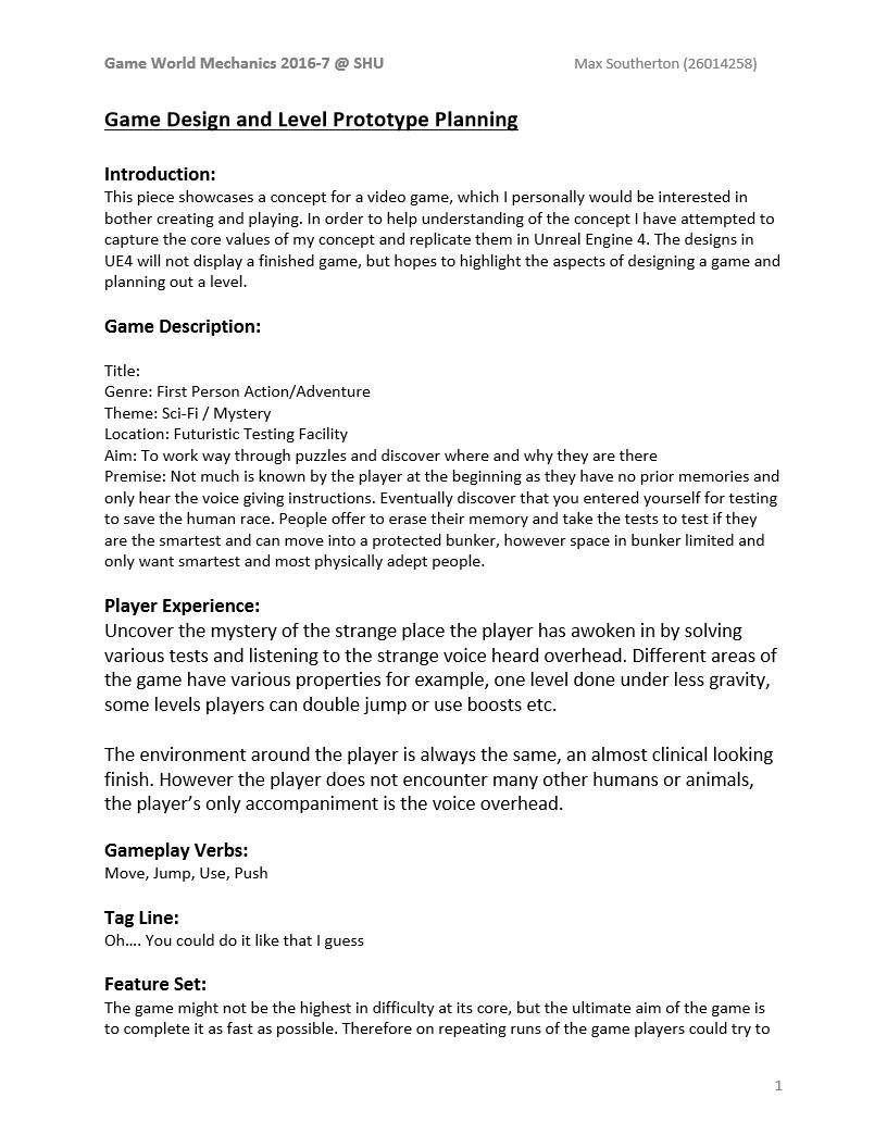 Max Southerton Game World Mechanics Ue4 Blueprint Work,Elements And Principles Of Design Matrix Worksheet