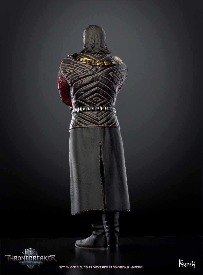 In The Witcher 3: Wild Hunt, English version of Emhyr is voiced by famous British actor Charles Dance, who played Tywin Lannister on the HBO series Game of Thrones for example. (source: Witcher Wiki)