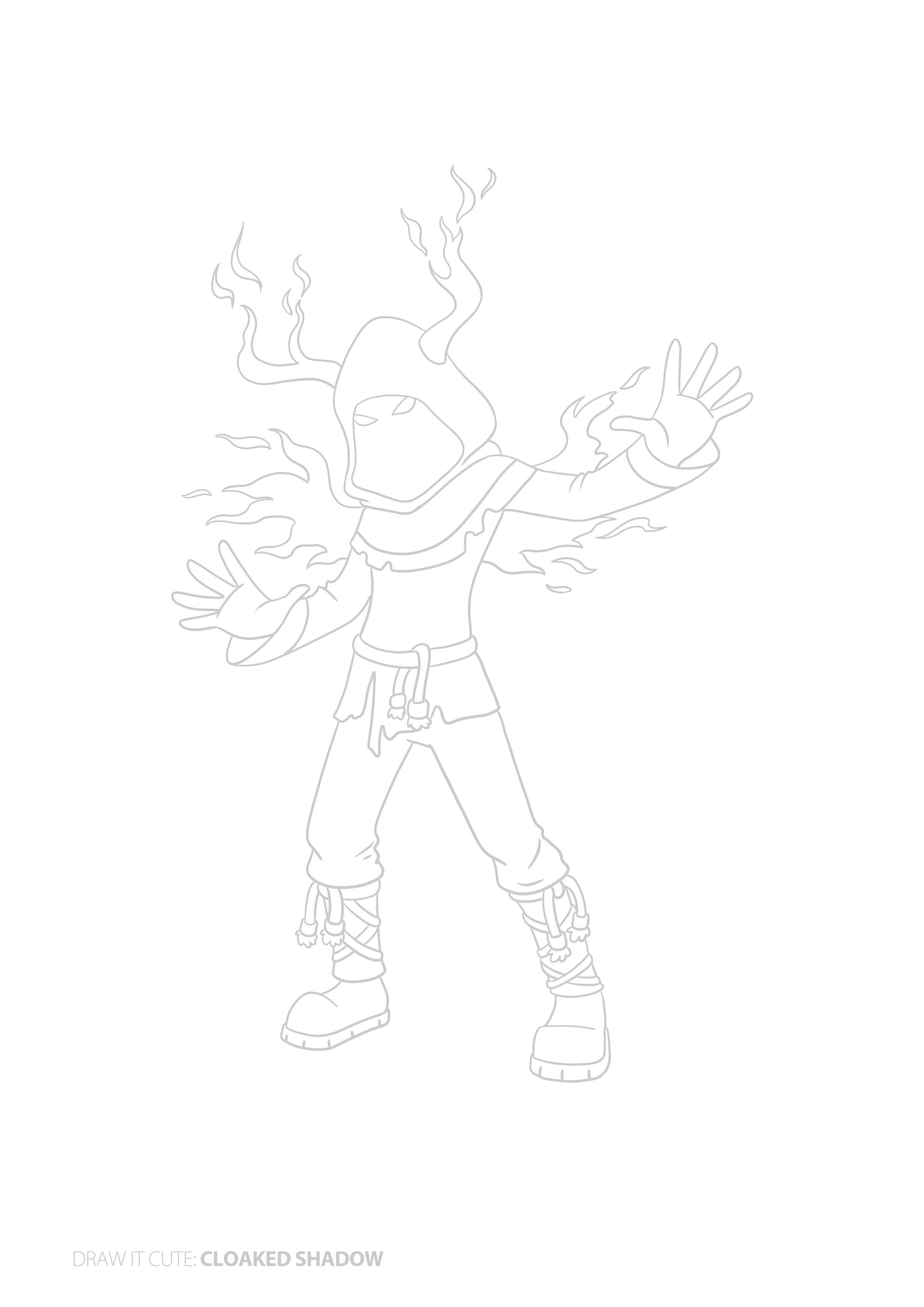 Cool Fortnite Pictures To Draw Easy Coloring Pages For Kids
