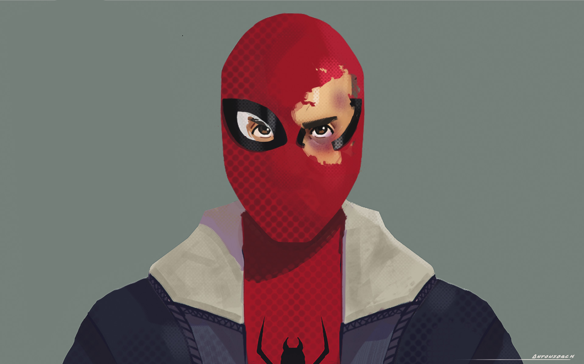 Spidersona - Damaged Mask