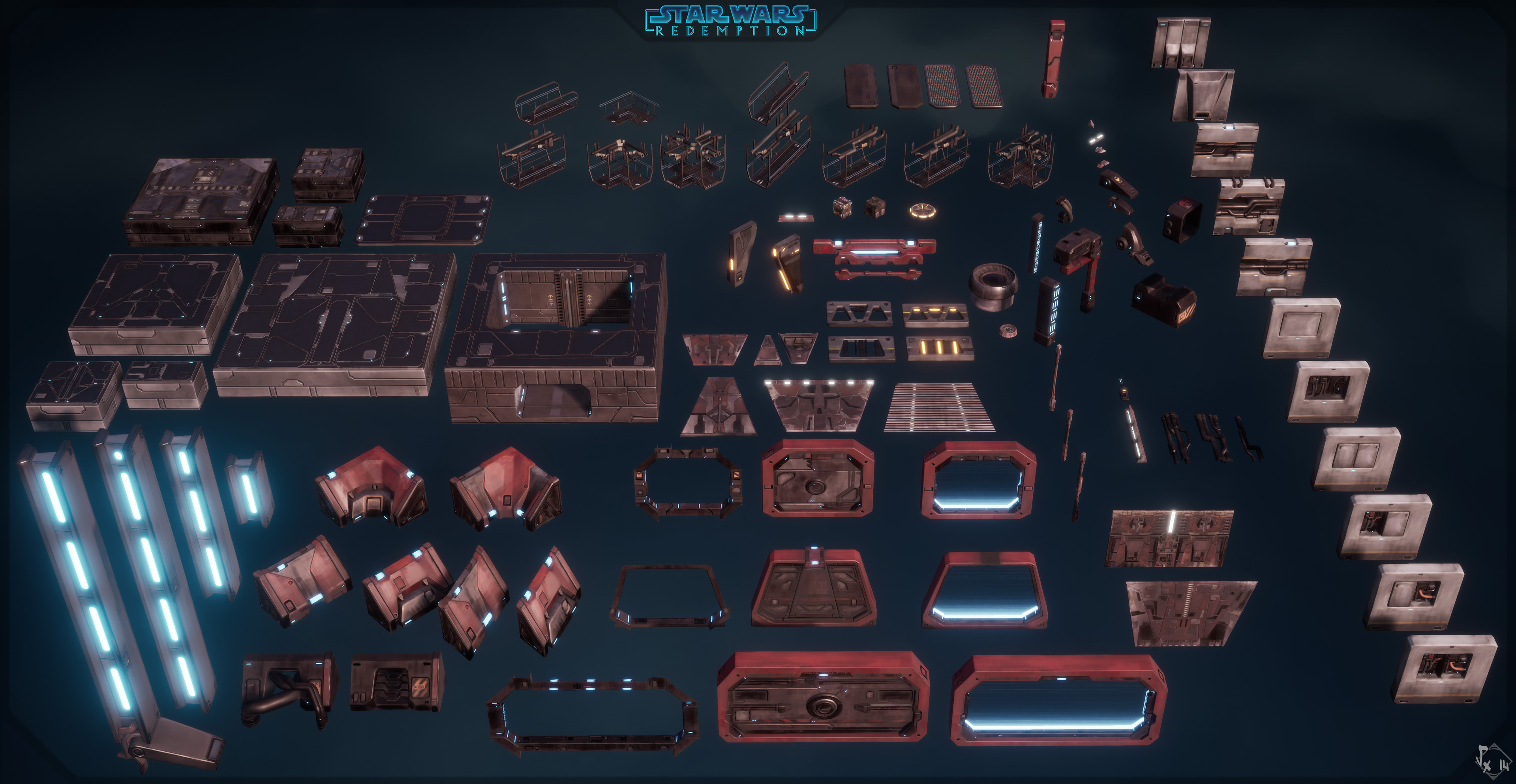 Venator's props, used to make path aswell as corridors and set dress/connections/polish...