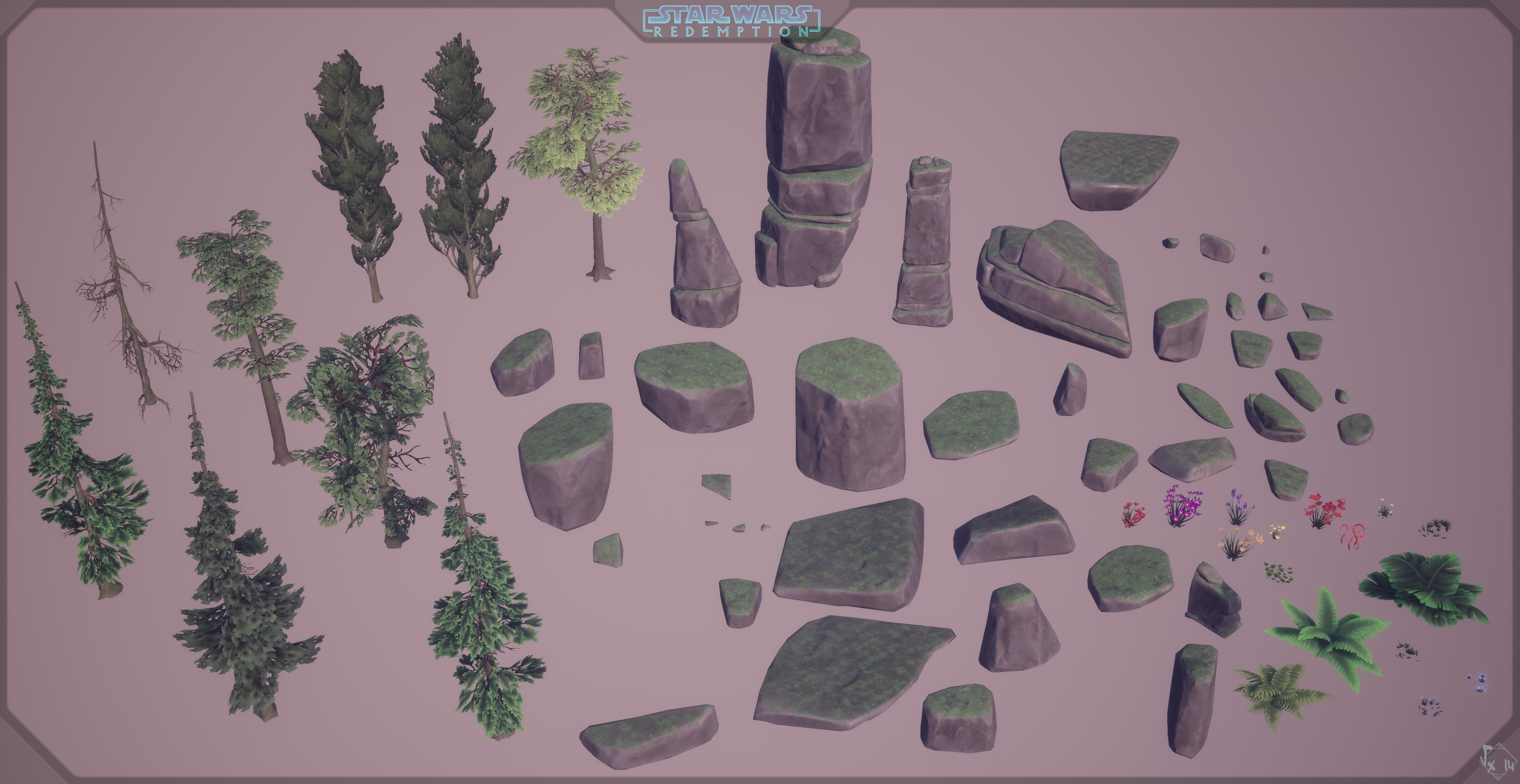 Lumberia's nature assets used to compose levels