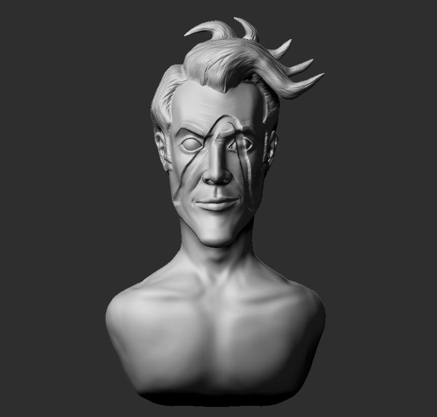 Artstation Zbrushcore Sculpting Practice Handsome Jack