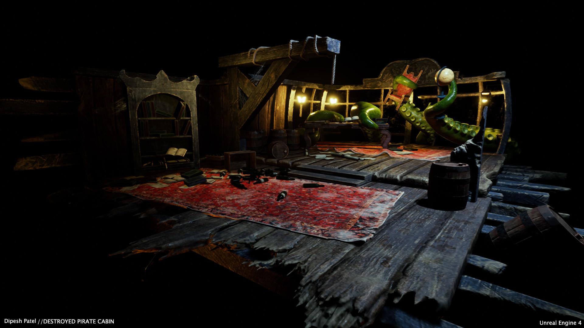 ArtStation - Pirate cabin diorama , Dipesh Patel