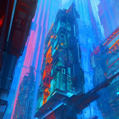 Leon tukker cybercity abstractas
