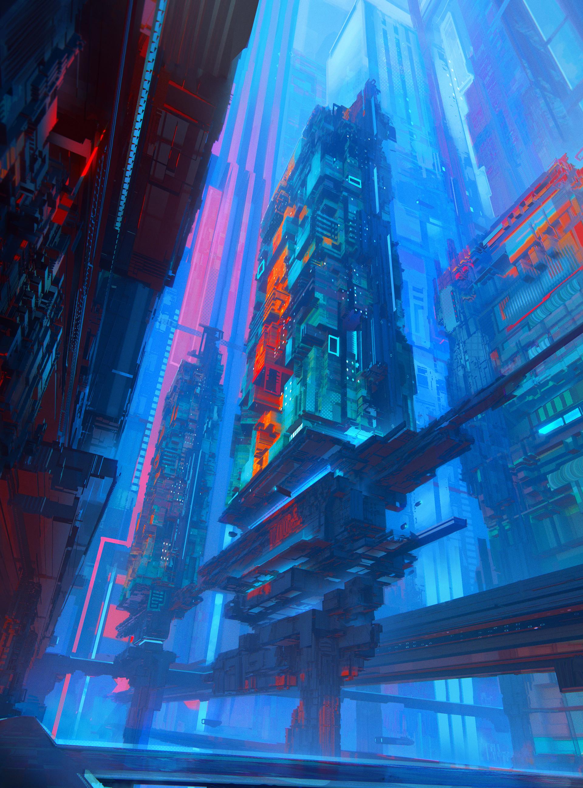 Leon tukker cybercity abstractas