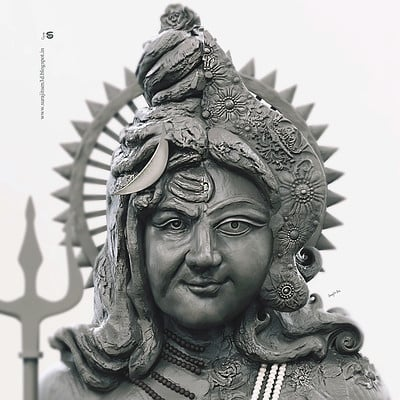 Surajit sen ardhnarishwar digital sculpt by surajitsen jan 2019