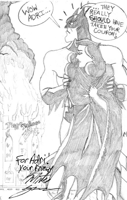 Example of 2D pencil sketch. Homage to Batman the Animated Series.