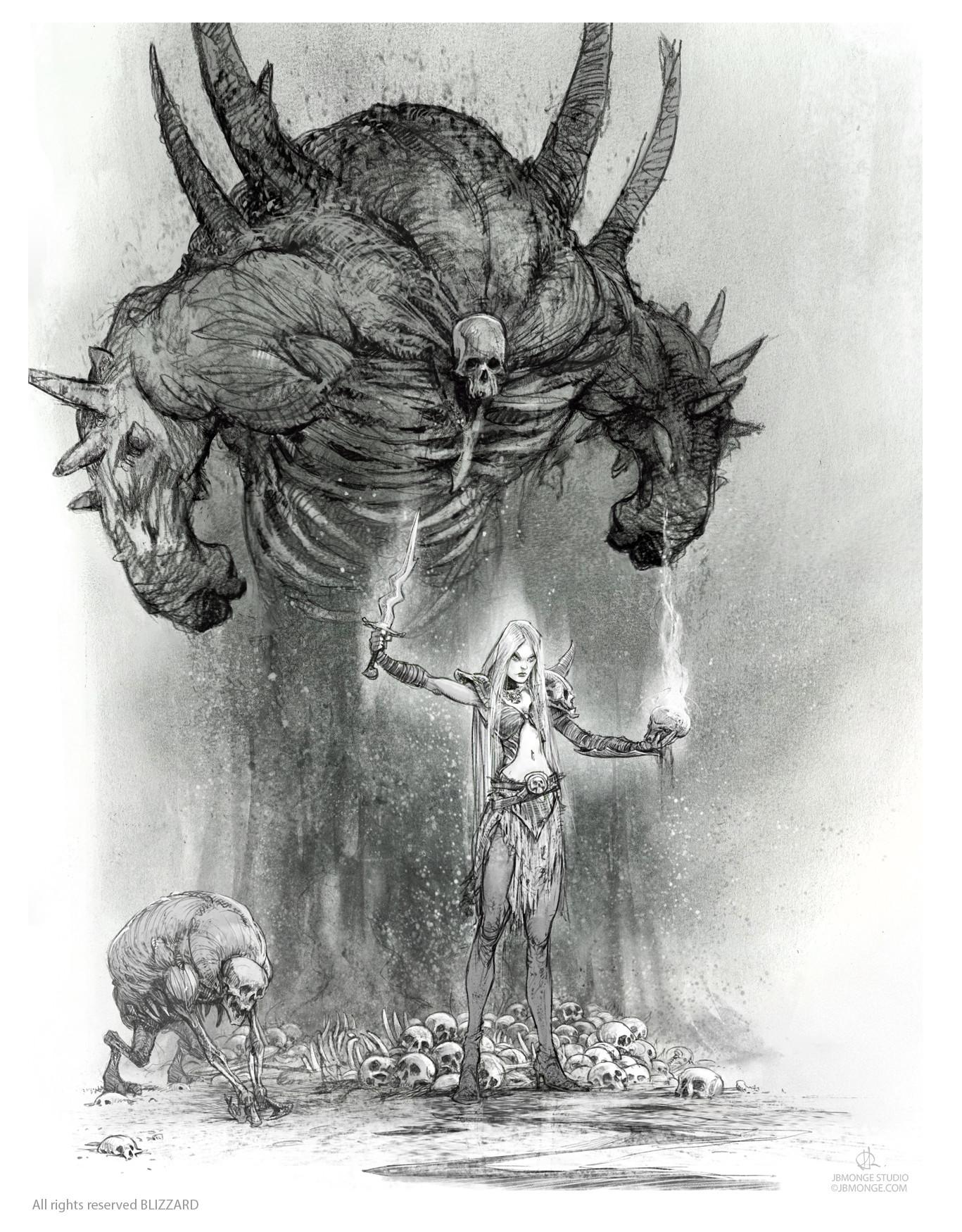 Diablo III Female Necromancer- Book of Adria: A Diablo Bestiary