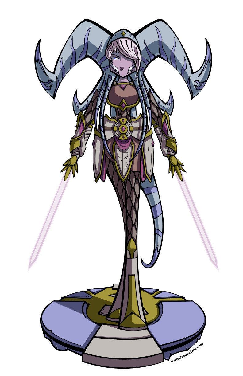 A fusion between Yrel from Warcraft and Ahsoka Tano from Star Wars done of a Facebook challenge.