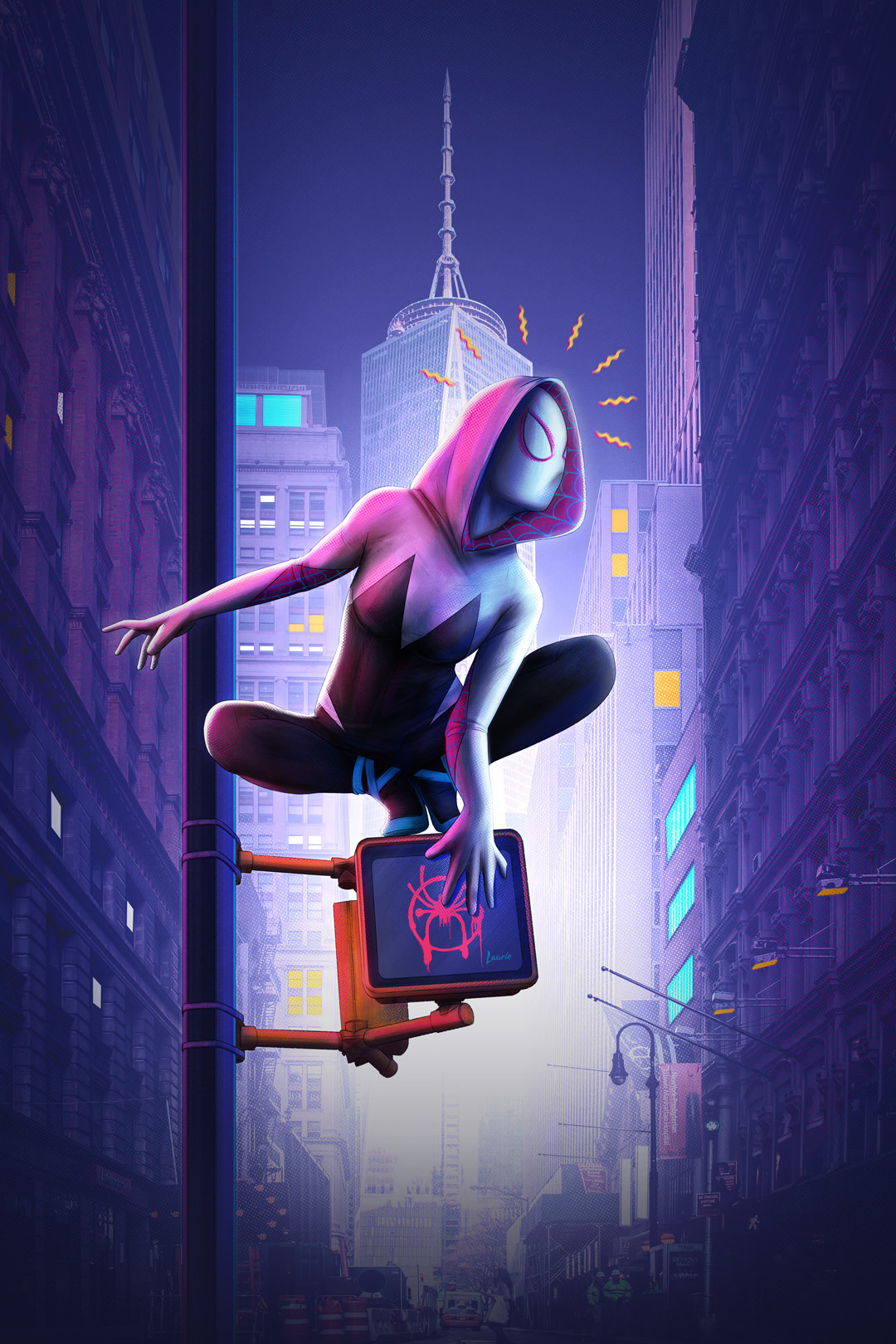 Laura escobar spider gwen into the spider verse