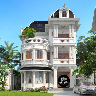 Neohouse architecture mau biet thu 3 tang kieu phap co dien