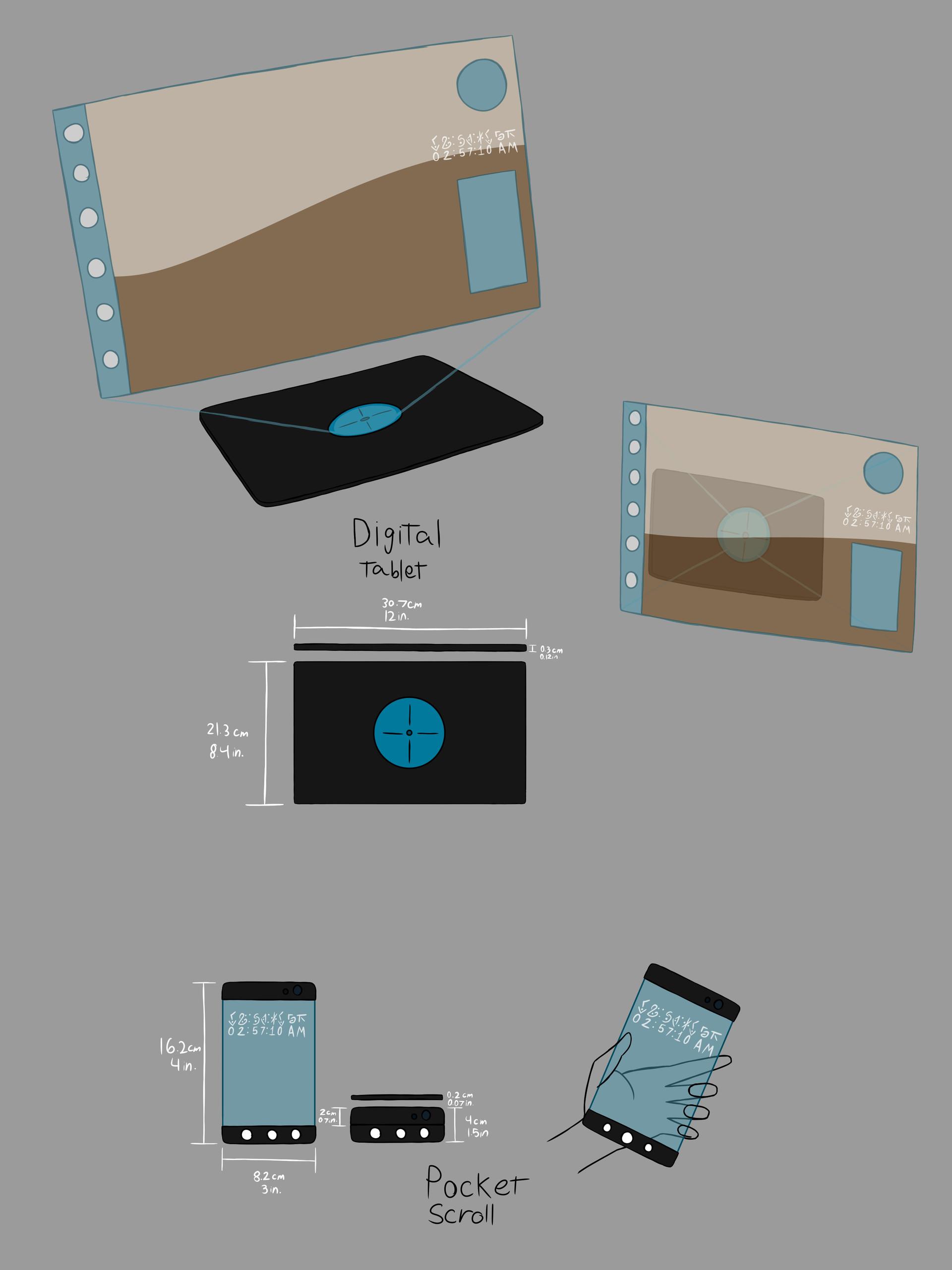 Amazing Artstation Digital Tablet And Pocket Scroll Ashton Waltz Download Free Architecture Designs Rallybritishbridgeorg