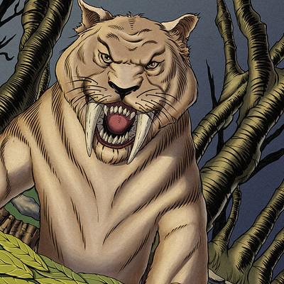 Robert shepherd saber toothed tiger renders