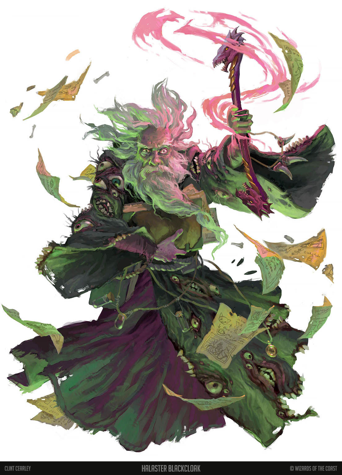 Halaster Blackcloak - D&D Official Art