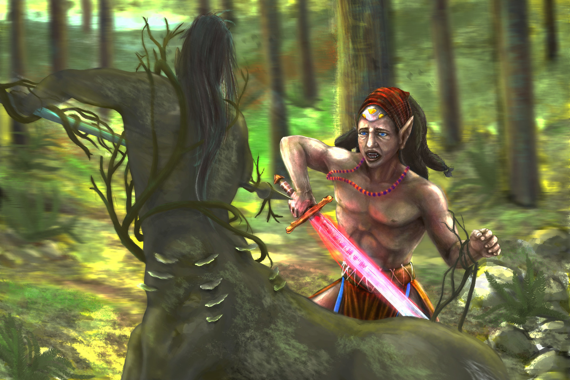 Italo gaspar luta de elfo cavalo final