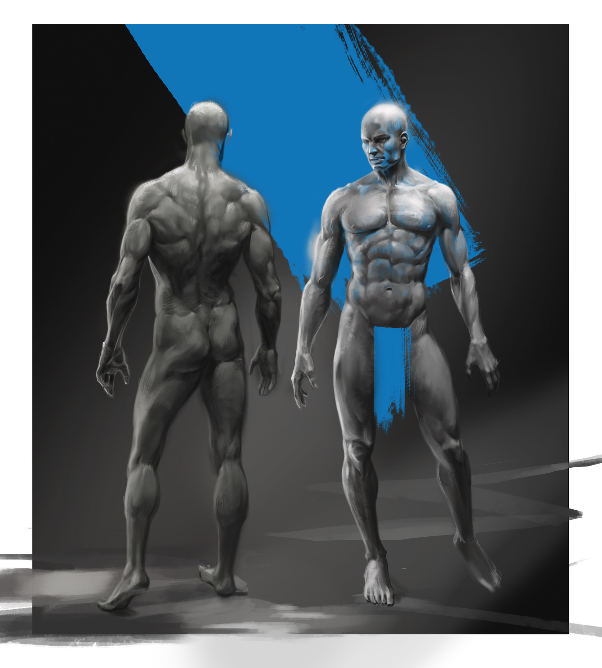 Male anatomy study based on jang seonghwan 3D artwork