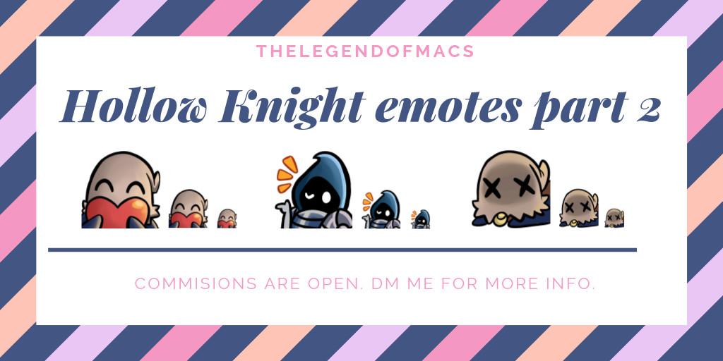 ArtStation - Hollow Knight emotes Part 2, Macs The Legend