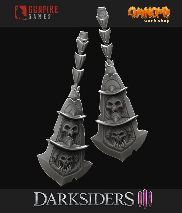 ArtStation - Darksiders 3 | Chains of Scorn (Weapon