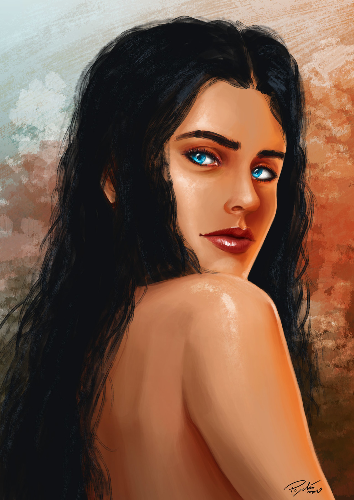 Training in portrait painting