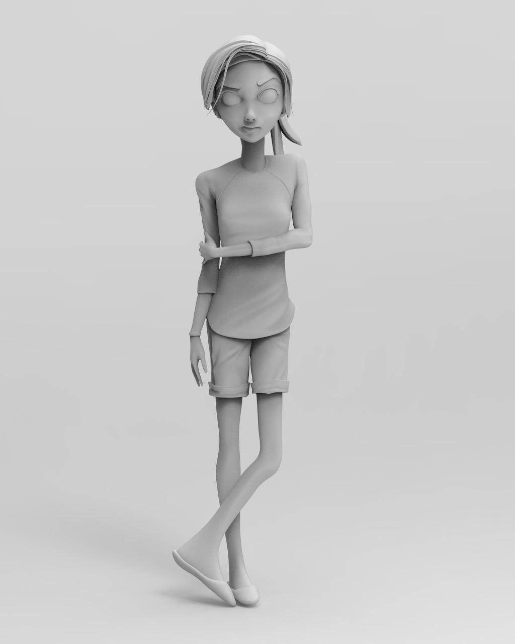 Keyshot Matte Grey render #1