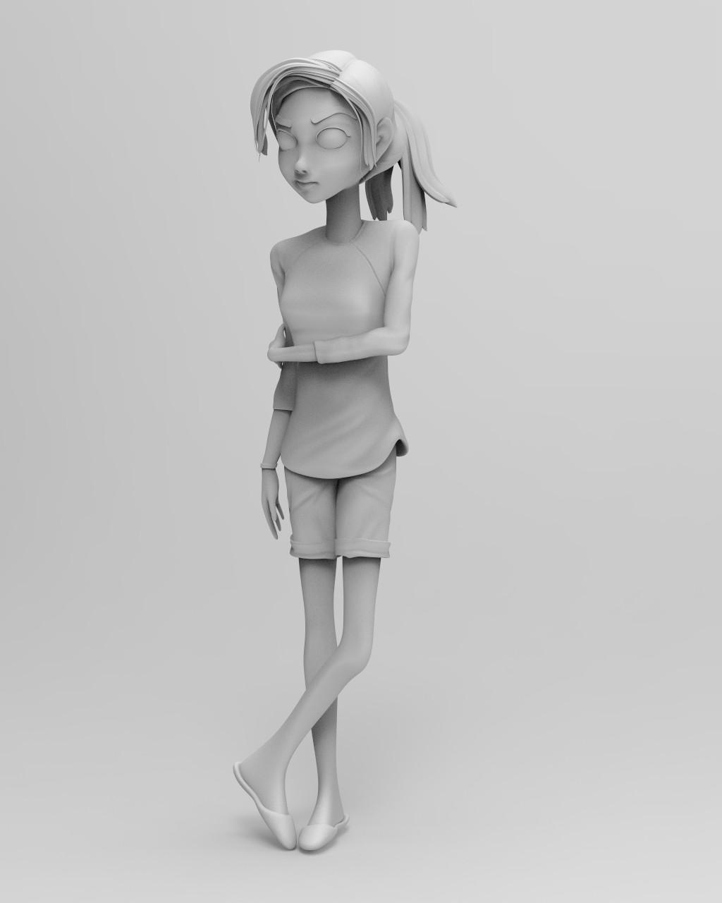 Keyshot Matte Grey render #2