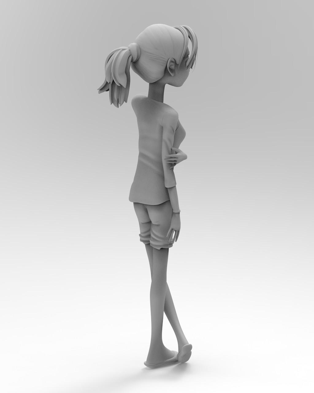 Keyshot Matte Grey render #4