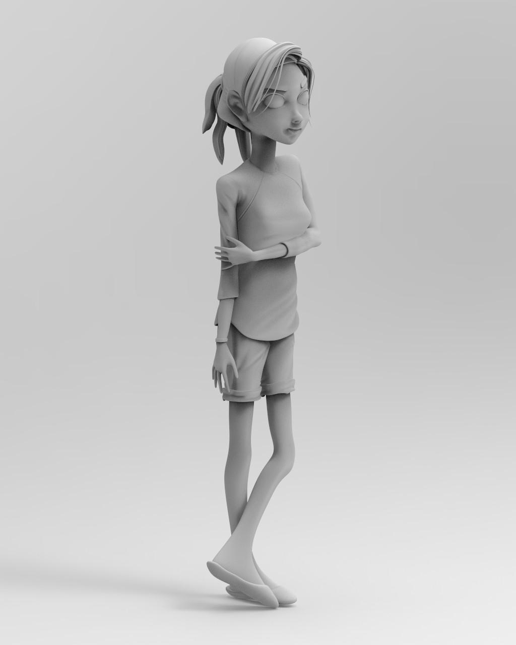 Keyshot Matte Grey render #5