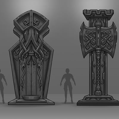 Travis lacey statues and relics