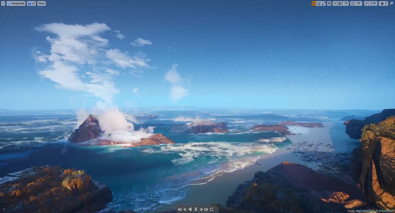 ArtStation - UE4 Ambient VFX Study 01: Ocean Shore, Tyler Smith