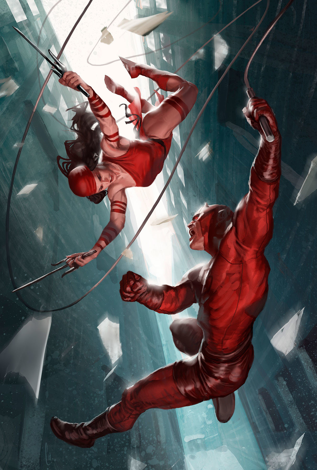 ArtStation - Daredevil and Elektra, Javier Charro
