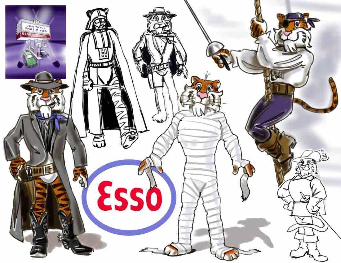 Esso Tiger character development.