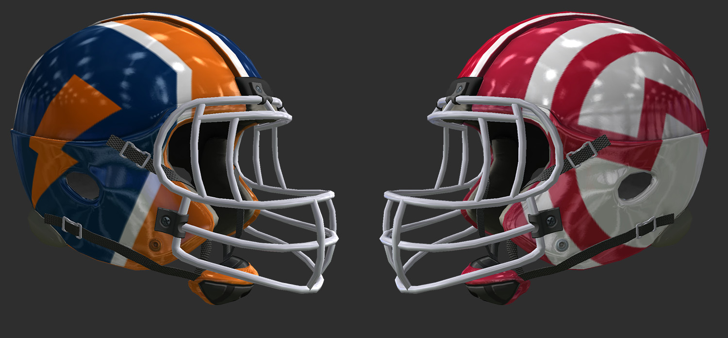 In game helmets